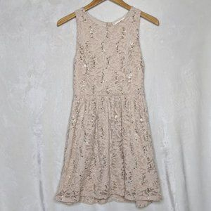 Altar'd State Sequin and Lace Sleeveless Dress